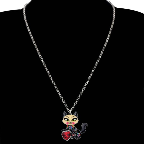 Rhinestone Sweet Cat Necklace Best Sellers Accessories