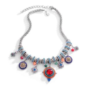 Vintage Colorful Bohemian Necklace New Arrivals Best Sellers Accessories