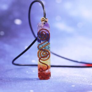 7 Chakra Energy Healing Orgonite Necklace Best Sellers Accessories