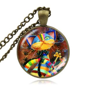Colorful Cats Family Handmade Necklace New Arrivals Accessories