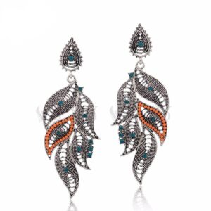Ethnic Peacock Drop Earrings Best Sellers Accessories