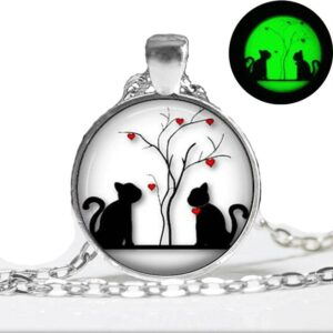 Glow in the dark Cats Necklace Best Sellers Accessories