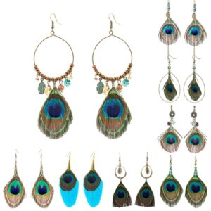 Peacock Feather Bohemian Jewelry Accessories