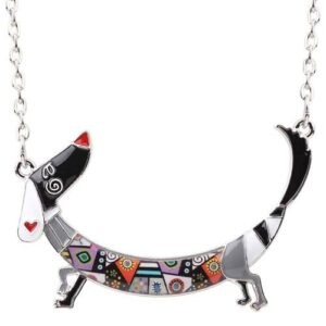 Cute Dachshund Dog Necklace Accessories