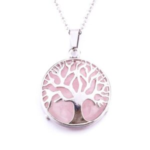 Natural Stone Tree of Life Necklace Accessories