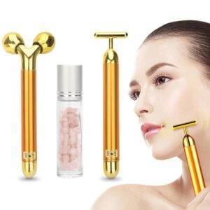 24k Golden Electric Facial Roller 24k Golden Electric Facial Roller Stunners Club