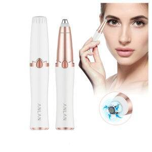 ANLAN New Design Electric Eyebrow Trimmer Makeup Painless Eye Brow Epilator Mini Shaver Razors Portable Facial Hair Remover