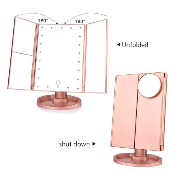 LED Touch Screen Makeup Mirror LED Touch Screen Makeup Mirror Stunners Club